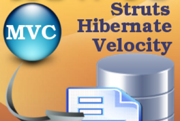How to create a MVC web application using Struts Hibernate and Velocity