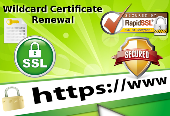 How to renew an existing SSL Wildcard Certificate with RapidSSLOnline