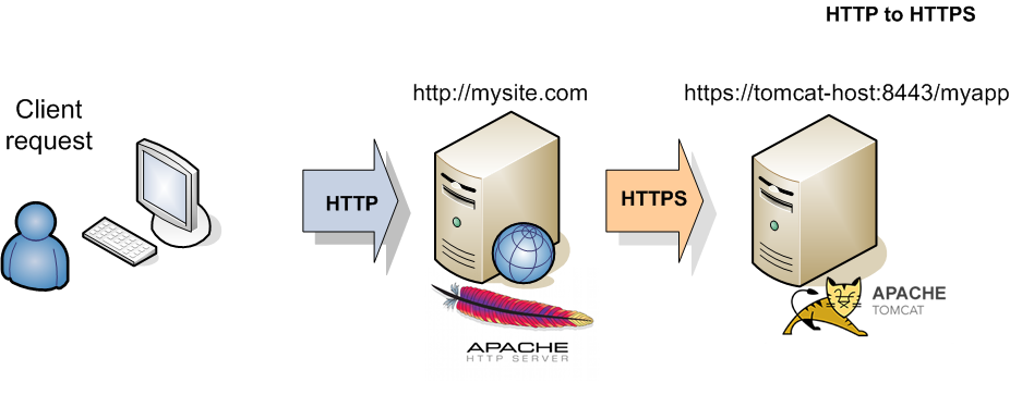 Redirect from HTTP to HTTPS and viceversa with Apache ProxyPass